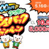 テレボート賞金総額5,000万円 クマホン キャッシュバックキャンペーン